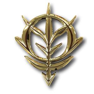 エンブレムステッカー 機動戦士ガンダム(ゴールド)スマホデコレーション シール ジオン モビルスーツ キャラクター グルマンディーズ GD-29GD|konan