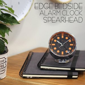 時計 目覚まし時計 アラームクロック EDGE BEDSIDE ALARM CLOCK SPEARHEAD 小さめ 小型 めざまし時計 とけい 置時計 おしゃれ|konan