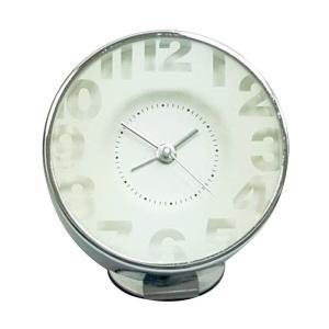 時計 目覚まし時計 アラームクロック EDGE BEDSIDE ALARM CLOCK TRANSPARENT WHITE 小さめ 小型 めざまし時計 とけい 置時計 おしゃれ|konan
