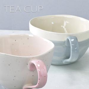 ティーカップ カップ コップ manually ティーカップ バイカラー グラデーション 陶器 食器 おしゃれ かわいい TEACUP カフェ コーヒーカップ MUG|konan