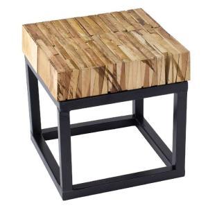 テーブル 台 スタンド パーケットテーブル スクエアSサイズ 30x30cm ミニテーブル リサイクルウッドピース インテリア ガーデニング アウトドア  FESTA HOME|konan