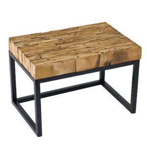 テーブル 台 スタンド パーケットテーブル レクト 45x30cm ミニテーブル リサイクルウッドピース インテリア ガーデニング アウトドア  FESTA HOME SFFL1805|konan