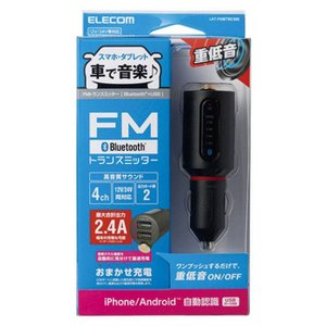 スマートフォンやタブレットの音楽を車の中でワイヤレスで楽しめるBluetooth(R)FMトランスミ...