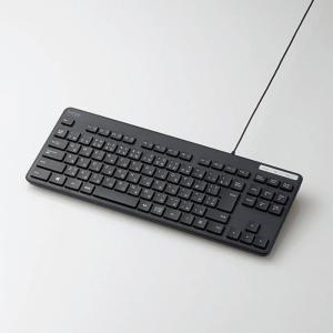 キーボード パソコン用キーボード 有線キーボード メンブレン式 薄型キーボード テンキー無し 標準日本語配列 エレコム TK-FCM107BK konan