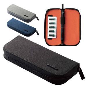 代引不可 Ploom TECH+専用 オールインワン ポーチ ケース 携帯 持ち運び 便利 電子タバコ アクセサリー エレコム ET-PTPAP2|konan