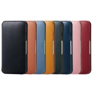 代引不可 iPhone XR 6.1inch 専用 ケース カバー ソフトレザーケース 磁石付 手帳型ケース 耐衝撃 シンプル エレコム PM-A18CPLFY2|konan
