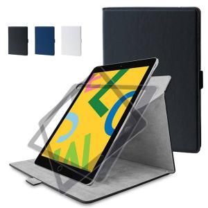 iPad 10.2inch 2019年モデル ケース カバー ソフトレザーケース 360度回転スタン...