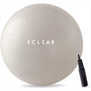 代引不可 バランスボール 直径75cm 耐荷重500kg 体幹強化 エクササイズ 専用ポンプ付 アンチバースト素材 アイボリー エレコム HCF-BB75IV|konan