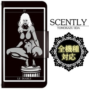 全機種対応 スマホケース/スマホカバー 手帳型スマートフォンケース/カバー SCENTLY×ドレスマ スペシャルコラボ企画 (Tarot-LE DIABLE) ドレスマ IID010|konan