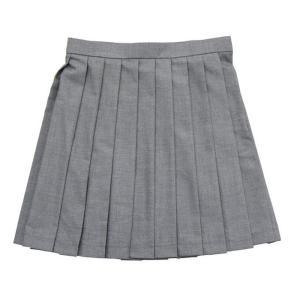 あすつく TEENS EVER 無地 プリーツスカート(グレー)Mサイズ スクールスカート 制服スカート 無地 プリーツ 高校生 中学生 学校 4560320822448|konan