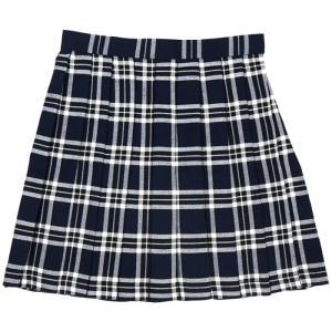 TEENS EVER TE-10SS チェック プリーツスカート(紺×白) Lサイズ スクールスカート 学校 制服 女子 高校生 JK レディース クリアストーン 4560320825081|konan