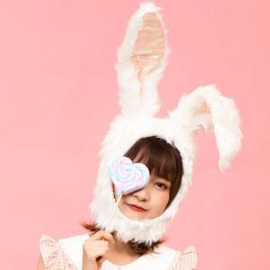 もふもふうさたん 白 帽子 かぶりもの パーティ 仮装 宴会 コスプレ 小道具 うさぎ ウサギ イースター クリアストーン 4560320841012|konan