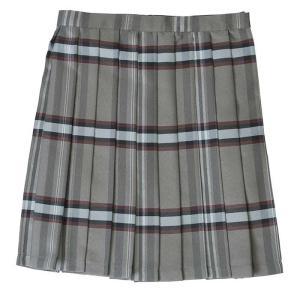 TEENS EVER 17SS チェック プリーツスカート グレーxルビー スクールスカート 制服スカート 女子 スカート 学生 スクール|konan