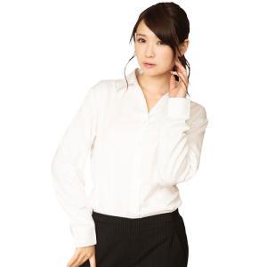 機能性ビジネスシャツ スキッパー レディース S〜LLサイズ 白 シャツ 形態安定 吸汗速乾 美シルエット OL キャリアウーマン クリアストーン CSBS-002|konan