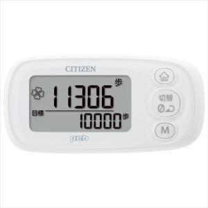 デジタル歩数計 peb(ペブ)シリーズ 3D加速度センサー ピュアホワイト シチズン TWT512-WH|konan