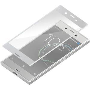 PremiumStyle Xperia XZ Premium (SO-04J)用 3D液晶全面保護ガラス シルバーフレーム PGA PG-XZPGL09|konan