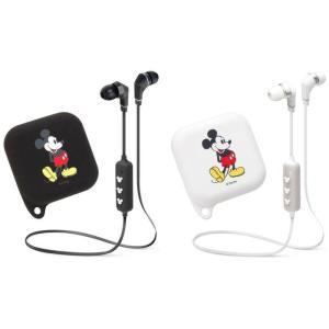 ワイヤレス ステレオ イヤホン ブルートゥース Bluetooth (R) 4.1搭載 シリコンポーチ付き ミッキーマウス 2カラー PGA PG-BTE1SD0*MKY|konan
