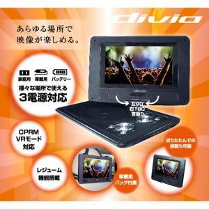 【特価】DVDプレイヤー ポータブル 8インチ 家庭用 車載用 バッテリー 持ち運び divia KAIHOU KH-DP800 konan