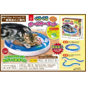 くるくるボールサーキット 猫用 ねこ おもちゃ 玩具 ペット用品 グッズ 簡単組立 サーキット 鈴入りボール付 アーテック 71101|konan