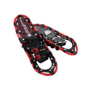 スノーシュー 25インチ レッド ドッペルギャンガー 雪上をらくらく歩行。軽量設計&簡単装着のウインターギア。 SW-10B|konan