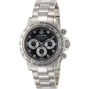 腕時計 ウォッチ 8石天然ダイヤモンド付 自動巻&手巻 高級 ブランド メンズ J.HARRISON JH-014DS|konan