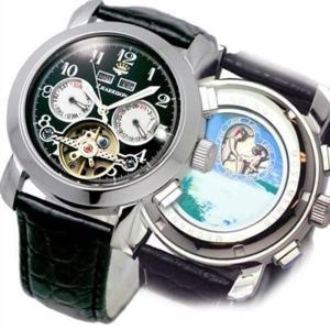 腕時計 手巻き 機械式 4機能付 ビッグテンプ付 からくりギミック ジョンハリソン J.HARRISON JH-002HBW konan