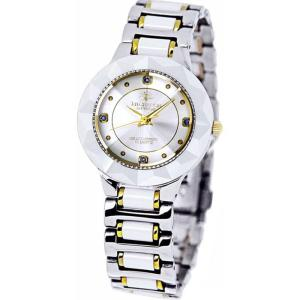 腕時計 ウォッチ セラミック4石天然ルビー付 18K金張りリューズ 高級 ブランド メンズ J.HARRISON CCM-001WH|konan