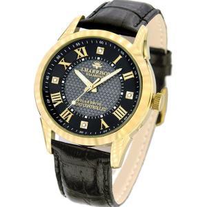 腕時計 電波時計 ソーラー時計 4石天然ダイヤモンド付 クラシックソーラー電波時計 メンズ 紳士用 ジョン・ハリソン いつでも正確な時間 J.HARRISON JH-085MGB konan