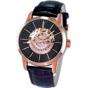 腕時計 紳士用 メンズ 自動巻&手巻 高速回転 大型テンプ付 両面スケルトン 日常生活防水 ジョン・ハリソン ピンク J.HARRISON JH-1946PB|konan