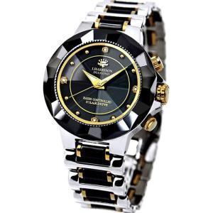 腕時計 電波時計 ソーラー時計 4石天然ダイヤモンド付 ソーラー電波時計 メンズ 紳士用 ジョン・ハリソン いつでも正確な時間 J.HARRISON JH-024MBB|konan