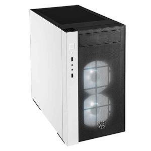 PCケース 強化ガラスと金属質を合わせた近代的で高級なデザイン ブラック&ホワイト シルバーストーン SILVERSTONE JAPAN SIV-SST-RL08BW-RGB|konan