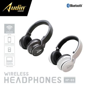Audin sound ワイヤレスヘッドホン HP-03 Bluetooth対応機器から音楽を飛ばしてワイヤレスで楽しめる ピーナッツクラブ KK-00534|konan