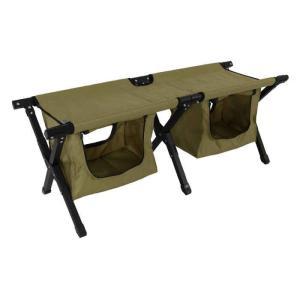 アウトドア ベンチ ベッド コット 簡易ベッド 折りたたみ 散らかりがちなキャンプグッズをシート下にスッキリ収納。 DOD FS2-246M|konan