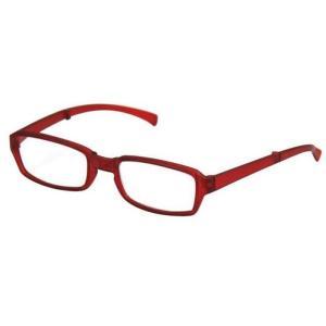 どこでも連れていける老眼鏡 折り畳みリーディンググラス VIAGEM+(ヴィアージェン) マットレッド+2.00 デューク VFR-02-7+2.0|konan