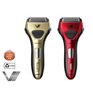 あすつく 髭剃り シェーバー ソリッドシリーズ S-DRIVE 往復式シェーバー 4枚刃 防水 海外対応 IZUMI マクセルイズミ IZF-V557|konan