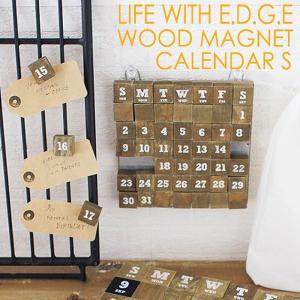ウッドマグネットカレンダー S 万年カレンダー ずっと使える マグネットタイプ 磁石 おしゃれ カッコイイ 新年 新年度 インテリア スパイス BLBT2821|konan