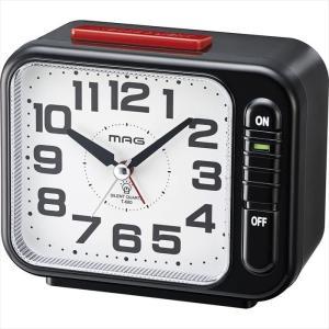 目覚まし時計 モーニングラリー2号 アラームクロック 連続秒針 スヌーズ 置時計 ブラック ノア精密 T-680BK-Z|konan