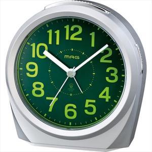 アナログ目覚まし時計 スイッチーズNEO アラームクロック 置時計 連続秒針 シルバー ノア精密 T-701SM-Z|konan