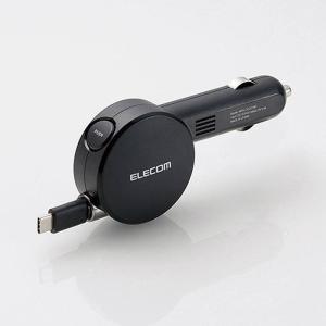 車載充電器(2.4A・巻取りType-C) ブラック エレコム MPA-CCC01BK konan