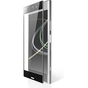 Xperia XZ Premium SO-04J用フルカバー液晶保護フィルム ガラス/PETフレーム付 ブラック エレコム PM-XXZPFLGPTRBK|konan
