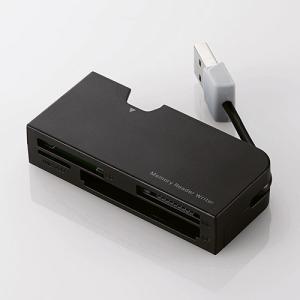 ケーブル収納タイプメモリリーダライタ エレコム MR-K013BK