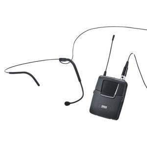 ワイヤレスヘッドマイク MM-SPAMP3用 特定小電力無線局ラジオマイク 800MHz帯 規格に適合 MM-SPAMP3用 サンワサプライ MM-SPAMP3WHS|konan