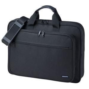 パソコンバッグ 17.3インチワイドノートPC対応 ビジネスタイプ キャリングバッグ サンワサプライ BAG-U59BK|konan