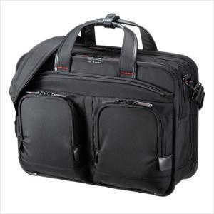 ビジネスバッグ ショルダーバッグ 鞄 テフロン加工 PC タブレット 収納 ブラック サンワサプライ BAG-EXE11|konan
