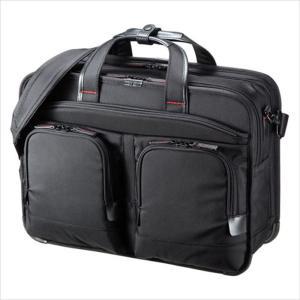 ビジネスバッグ ショルダーバッグ 鞄 テフロン加工 PC タブレット 収納 ブラック サンワサプライ BAG-EXE12|konan