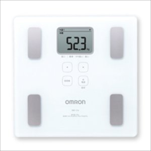 オムロン 体重体組成計(両足測定タイプ) HBF-214-W|konan