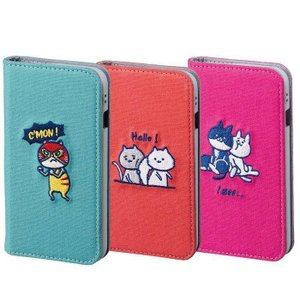 iPhone8/7/6s/6 対応 ケース カバー CAT FLIP キャットフリップ KUSUKUSU ねこ フリップカバー 手帳型ケース 二つ折り フリップケース|konan
