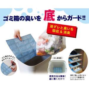 ゴミ箱の臭いを底からガード!! 液ダレ臭い対策 底からとるシート110番 富士パックス h692 konan