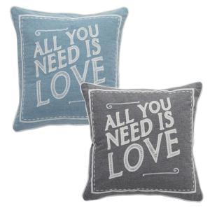 北海道・沖縄・離島配送不可 代引不可 クッション 45x45cm LOVE デザインクッション 正方形 ALL YOU NEED IS LOVE ラブ|konan