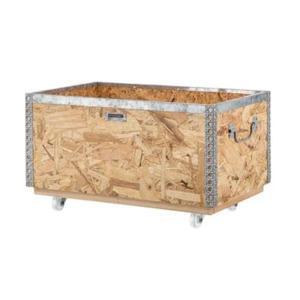 北海道・沖縄・離島配送不可 代引不可 スタッキングボックス Lサイズ キャスター付き おもちゃ箱 東谷 LFS-172 konan